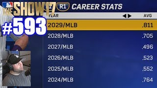 LOOKING OVER MY CAREER STATS! | MLB The Show 17 | Road to the Show #593
