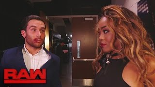 Alicia Fox kisses Noam Dar: Raw, Jan. 9, 2017