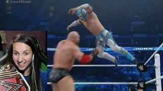 WWE Smackdown 4/21/16 Ryback vs Kalisto