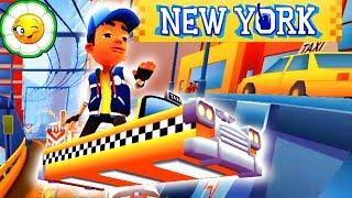 Subway Surfers #22 Обновление августа: Тони на жёлтом такси в Нью Йорке! На весь экран
