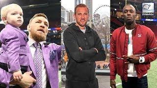 Harry Kane, Usain Bolt & Conor McGregor Were Seen At The Super Bowl In Atlanta