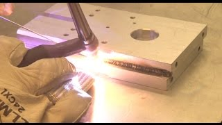 TIG Welding Thick Aluminum using DC and Helium
