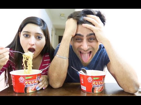 TRYING SUPER SPICY NOODLE CHALLENGE  -  FAIL