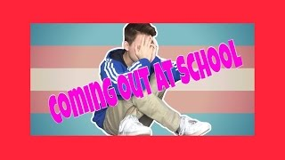 Coming Out At School || Justin Blake ||