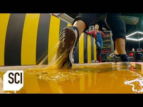 Can You Walk on Rodent Glue Without Getting Stuck MythBusters Jr.