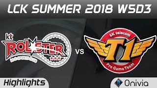KT vs SKT Highlights Game 2 LCK Summer 2018 W5D3 KT Rolster vs SK Telecom T1 by Onivia