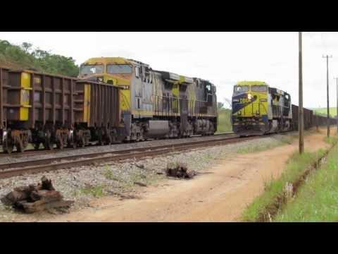 Trens da MRS Ferrovia do Aço