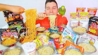 Ramen Noodles From Around The World • MUKBANG