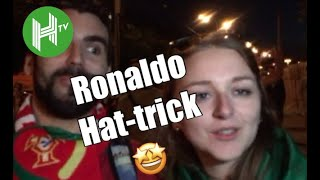 Incredible! 🤩   Portugal and Spain fans react to Cristiano Ronaldo's astonishing World Cup hat-trick