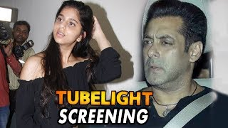 Salman Khan With Shah Rukh Khan's Daughter Suhana Khan At Tubelight Screening