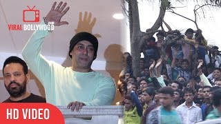 SULTAN Salman Khan Celebrating EID With Fans | Outside Galaxy Apartment