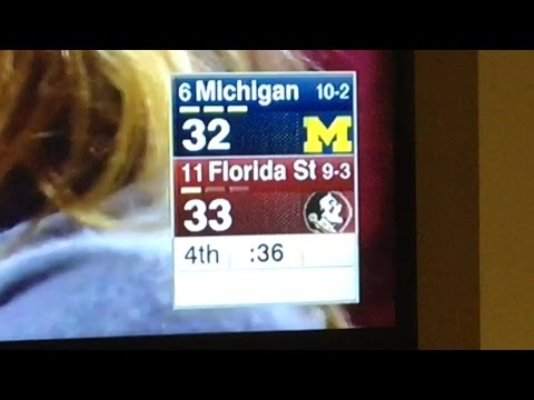 The Last Minute Of Michigan Vs Florida St. Michigan Loses On Potential Penalty