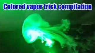 Colored vapor smoke | How to blow Jellyfish vape trick | Sense Arrow Kit | Elegomall.com