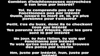► La Fouine   Par intérêt   PAROLES ◄