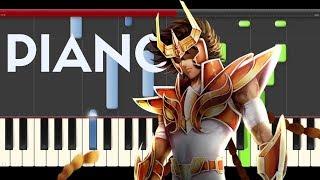 Saint Seiya Pegasus fantasy Opening Piano theme midi tutorial sheet partitura cover