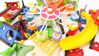 Building Toys for Children Peppa Pig Building Playground with Ferris Wheel for Kids