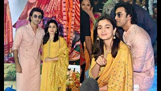 Alia Bhatt And Ranbir Kapoor At Durga Puja 2017
