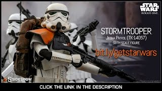 Rogue One Star Wars Hot Toys Jedha Patrol TK-14057 Stormtrooper 1/6 Scale Movie Figure Review