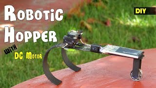How to make a Simple Robotic Hopper / Running Robot toy with DC Motor | DIY