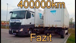 """400000km im Mercedes """"Neuer Actros"""" (MP4) Testurteil Qualität: Gut"""