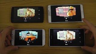 GTA San Andreas Samsung Galaxy S4 vs. Galaxy Note 3 vs. Xperia Z1 vs. Nexus 5 - Loading Speed Test
