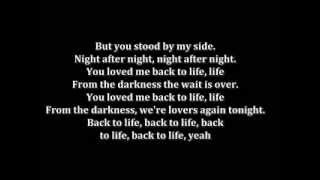 Loved me back to life Celine Dion