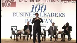 Salim Ghauri addressing at CEO SUMMIT & Book Launch 2012 by Manager Today