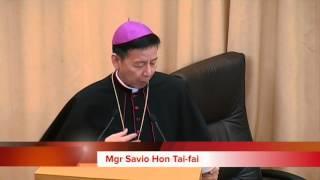 Simposio 10 anni di AsiaNews Mgr Savio Hon Tai-Fai