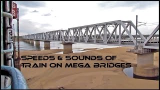 Train SOUNDS on bridges and HIGH SPEED crossings : Indian Railways !!