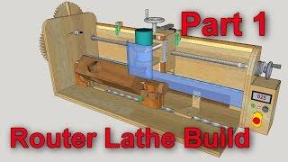 Router Mill/Lathe Build part 1 (parts preparation)