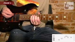 Como Tocar One en Guitarra Eléctrica - Metallica SOLO 1 / Tutorial en Español con Tabs 2/2 TCDG