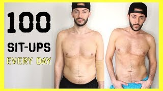 100 SIT UPS EVERYDAY for 7 DAYS   Body Transformation Challenge: Does It Really Work?