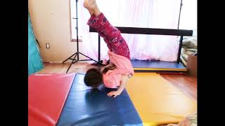ALLIE'S COOL, FLEXIBLE GYMNASTICS/ CONTORTION- LIKE TRICK & AMAZING COMBO 👍!