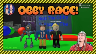 ROBLOX Obby Race with fellow YouTubers - G Dad Vs. DaddyDodoGuy vs. Redneck Gamer - Who Will Win?!