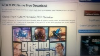 GTA V Download for PC In 12 Hours !!!  ( Zip File )