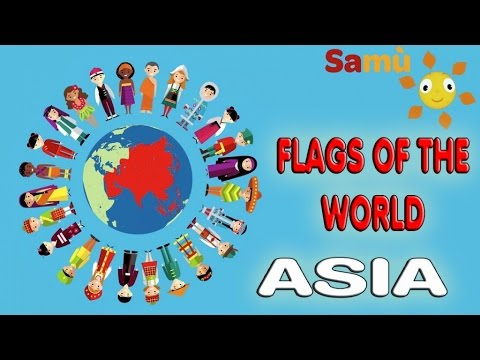 FLAGS VIDEO FOR KIDS: ASIA