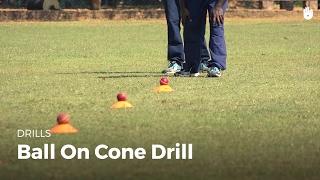 Ball on Cone Drill   Cricket