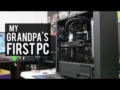 BUILDING MY GRANDPA HIS FIRST PC!! (a tad overkill?)