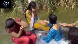 Bangladeshi sexy girls taking bath in dam ll Beautiful girls ll sexy bath