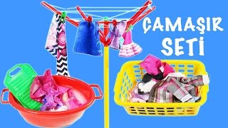 Barbie Girl ve Oyuncak Bebekler Elbiseleri Yıkama | Oyuncak Çamaşır Seti | Evcilik TV