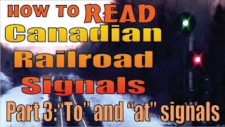 Part 3: Railroad Signals, reading and meanings. Diverging and Limited speeds, to and at signals