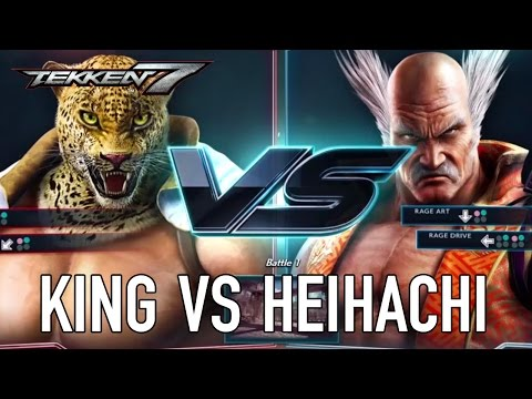 Tekken 7 - PS4/XB1/PC - King VS Heihachi (Character Gameplay)