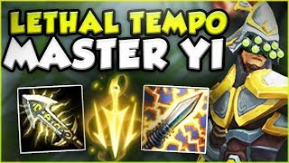 UNLIMITED ATTACK SPEED FULL CRIT MASTER YI IS SO DUMB! NEW MASTER YI SEASON 8! - League of Legends