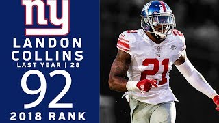 #92: Landon Collins (S, Giants) | Top 100 Players of 2018 | NFL