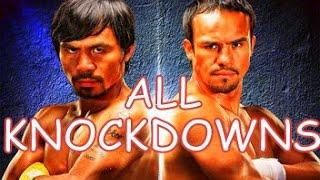 Manny Pacquiao Vs Juan Manuel Marquez All Knockdowns