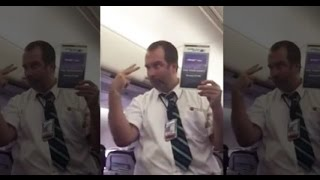 [FULL] Hilarious WestJet Flight Attendant Safety Demo Leaves Passengers in Stitches