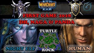 Grubby | Warcraft 3 The Frozen Throne | NE v HU - First Game 2018 - DH, Naga, & Panda - Turtle Rock