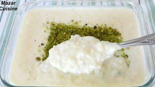 Rice Pudding With Crushed Rice شیربرنج همرای برنج آسیاب شده Sheer brinj