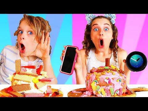 SIRI vs ALEXA CHOOSE MY CAKE INGREDIENTS CHALLENGE
