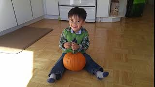 The half Chinese/Persian (Iranian) baby at 3 years old